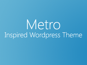 Windows 8 metro风格WordPress免费主题