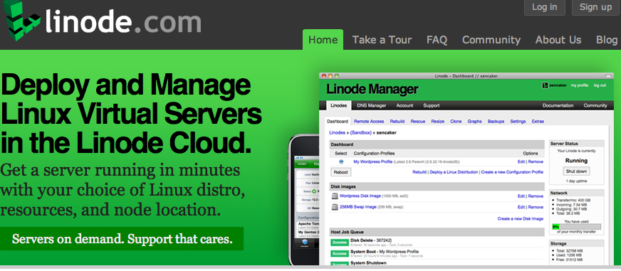 linode screen