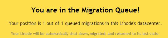 linode migration queue