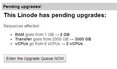 linode upgrade