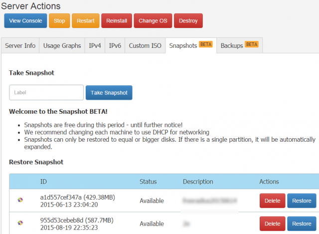 vultr使用snapshots系统镜像备份安装vps