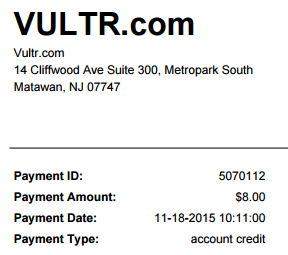vultr credit