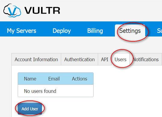 vultr user
