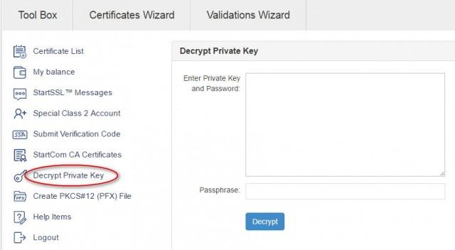 decrypt private key