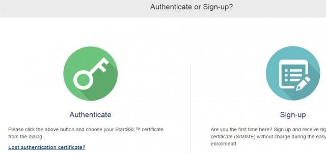 startssl authenticate
